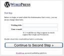 Stap 1 wordpress weblog